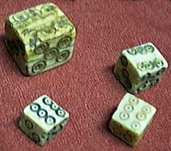 Dice from ancient Egypt.